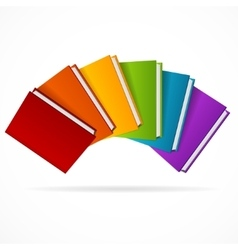 Book Stack Rainbow vector