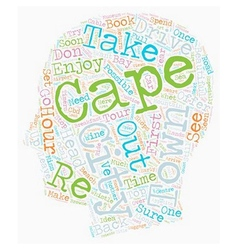 Cape Town In Hours text background wordcloud vector