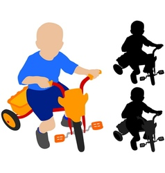 child riding tricycle vector image