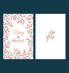 Christmas cards with branches vector