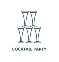 cocktail party line icon cocktail party vector image