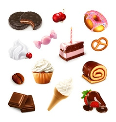 Confectionery set 2 vector image