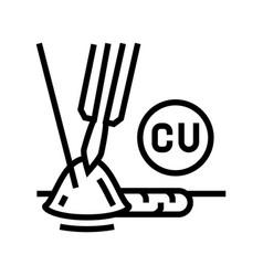 Copper welding line icon vector