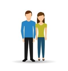 Couple relationships design vector