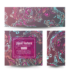 Craft liquid texture set ink texture vector