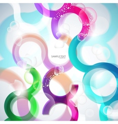 curves lines and bubbles vector image