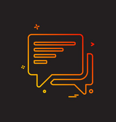 discussion chat sms icon design vector image