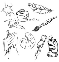drawn art stuff vector image