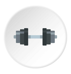 dumbbell icon circle vector image