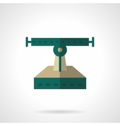 Flat color longboard services icon vector image