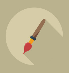 Flat modern design with shadow icon brush vector