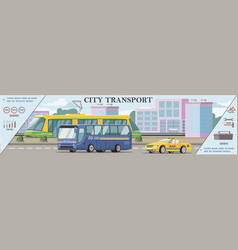 flat urban transport colorful concept vector image