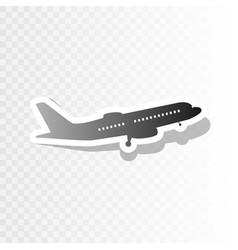 flying plane sign side view new year vector image