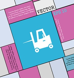Forklift icon sign Modern flat style for your vector