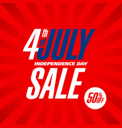 fourth of july usa independence day sale banner vector image vector image