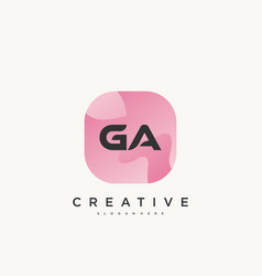 Ga initial letter logo icon design template vector