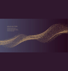 Gold glitter shiny particles on a dark background vector