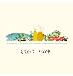 Greek Diet Image vector