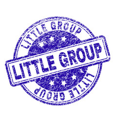 Grunge textured little group stamp seal vector