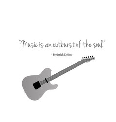 guitars with a famous quote vector image