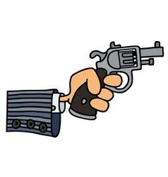 Gun in a hand vector