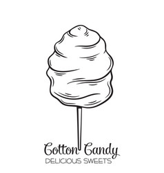 Hand drawn cotton candy vector
