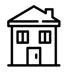 House building icon outline style vector