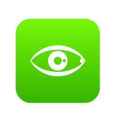 human eye icon digital green vector image