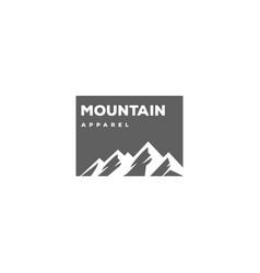 ice snow mountain apparel clothing t-shirt logo vector image
