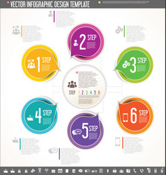 infographic design template colorful design 2 vector image