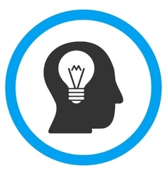 Intellect Bulb Flat Rounded Icon vector