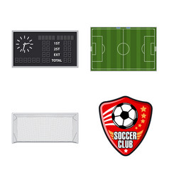 isolated object of soccer and gear logo set of vector image