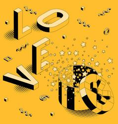 isometric valentine concept vector image
