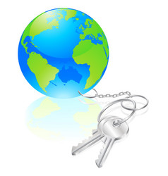 Keys to the world concept vector
