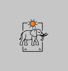 Line art of elephant vector
