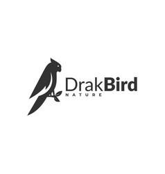 Logo bird silhouette style vector