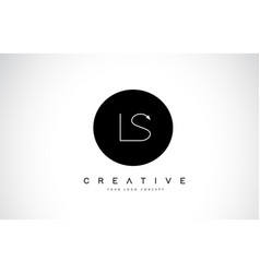 ls l s logo design with black and white creative vector image