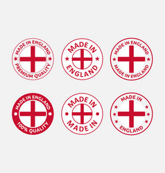 made in england labels set in england vector image