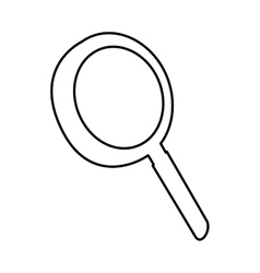 magnifying glass pictogram icon image vector image