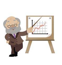 Man with the graph vector image