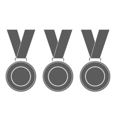 Medals for the winners of the Champions vector