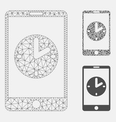 Mobile time mesh 2d model and triangle vector