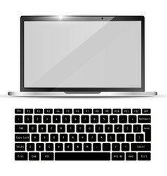 modern realistic laptop and black keyboard vector image