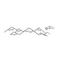 mountains doodle style vector image
