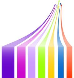 Multicolored arrows background vector