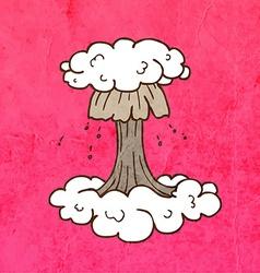 Nuclear Explosion Cartoon vector image