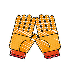Pair of gloves icon image vector
