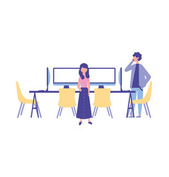people workplace activity vector image