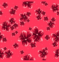 pink cherry blossom seamless pattern for spring vector image