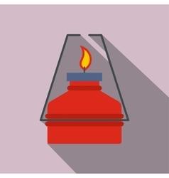 Portable gas burner flat icon vector